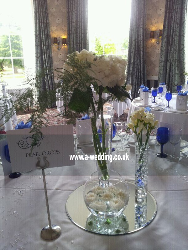 centre pieces hire for a wedding