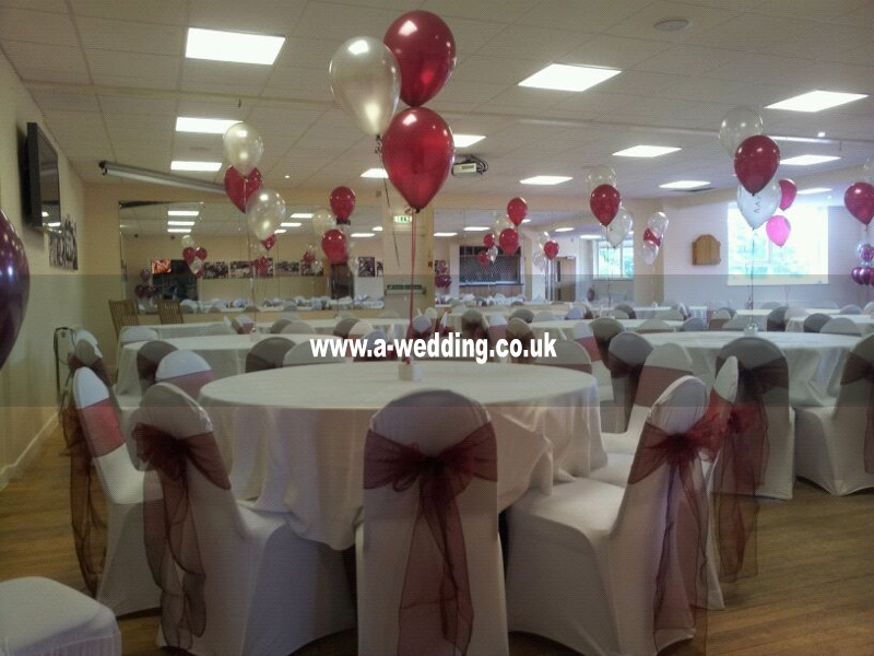 helium balloons for a wedding